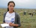 Angelina Jolie a vizitat mai multe tabere de refugiati din Turcia si Italia