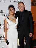 Sotul actritei Salma Hayek are un copil cu Linda Evanghelista