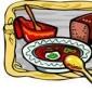 Mancare cu carne de porc si sos de smantana