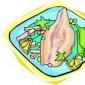 Muschi de porc impanat cu carnati si costita